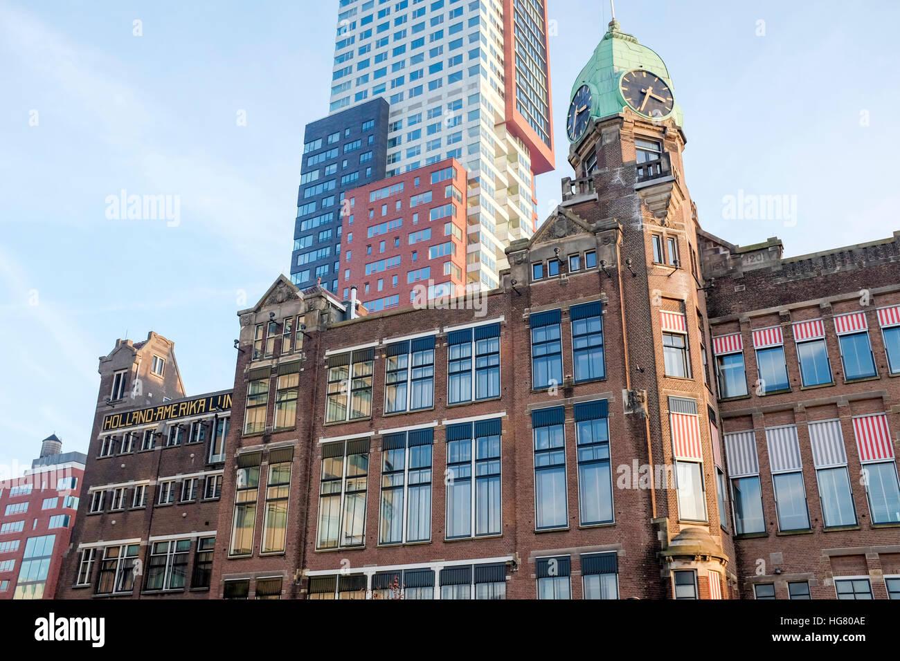 Hotel New York, Holland Amerika Line, Rotterdam, Niederlande Stockbild