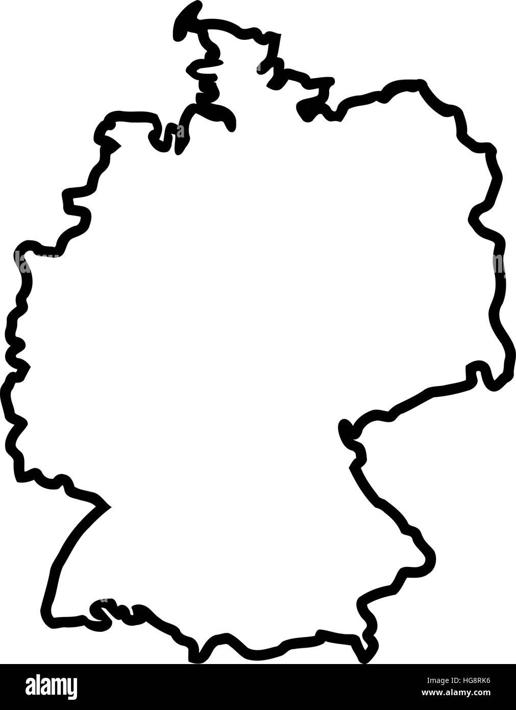 Deutschland Karte Kontur Vektor Abbildung Bild 130501258 Alamy