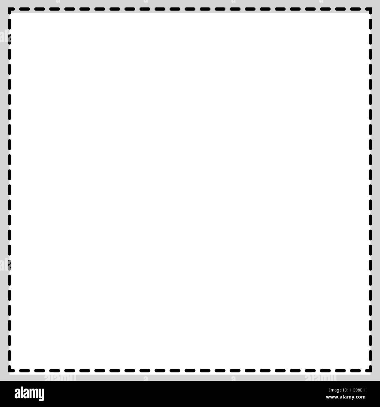 Rechteckig, quadratisch Fotorahmen. Zeitung, Kleinanzeige ...