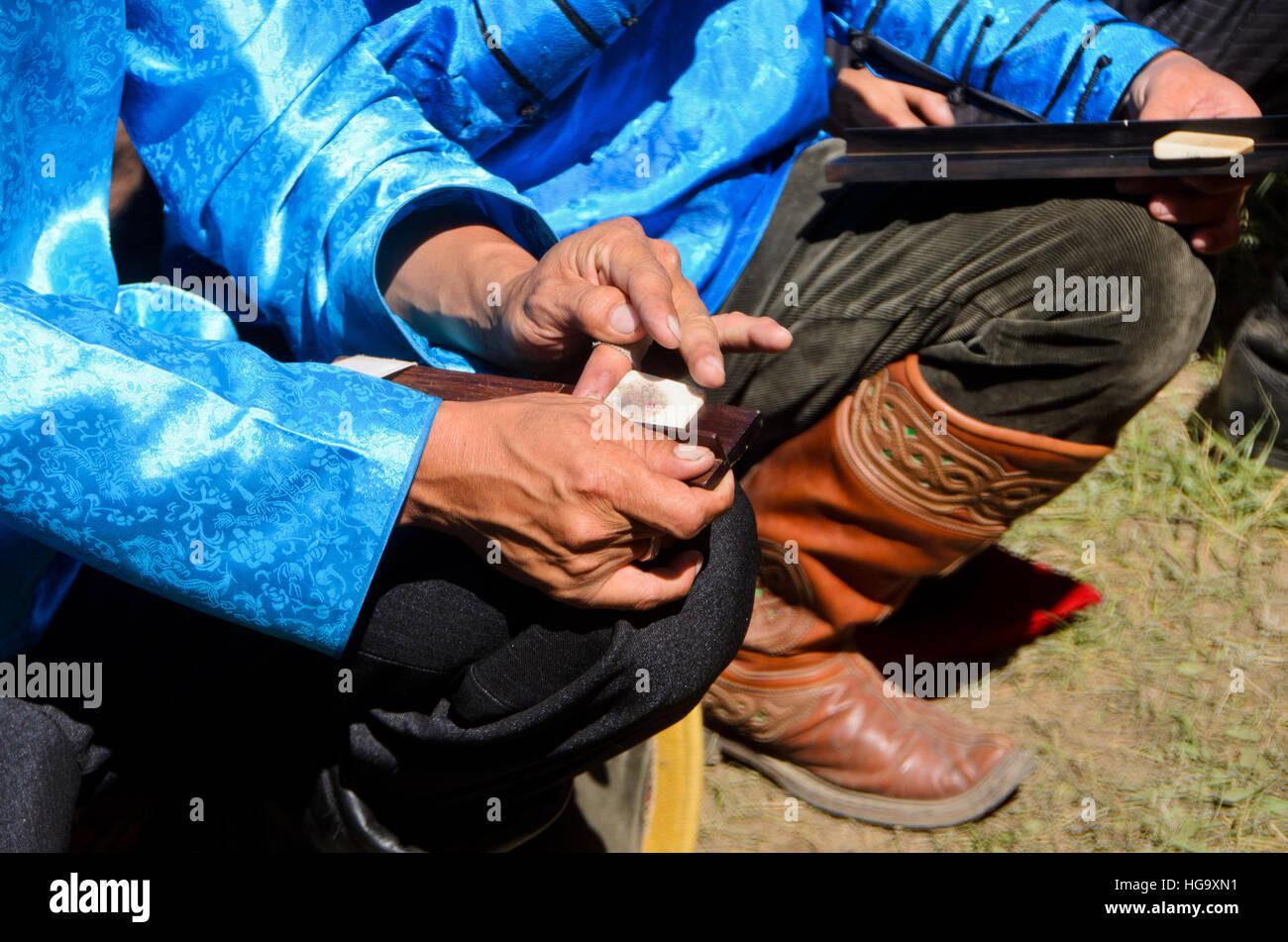 Ready-to-Shoot Kugel in einem Knöchel-Knochen Ballerspiel, Naadam ...