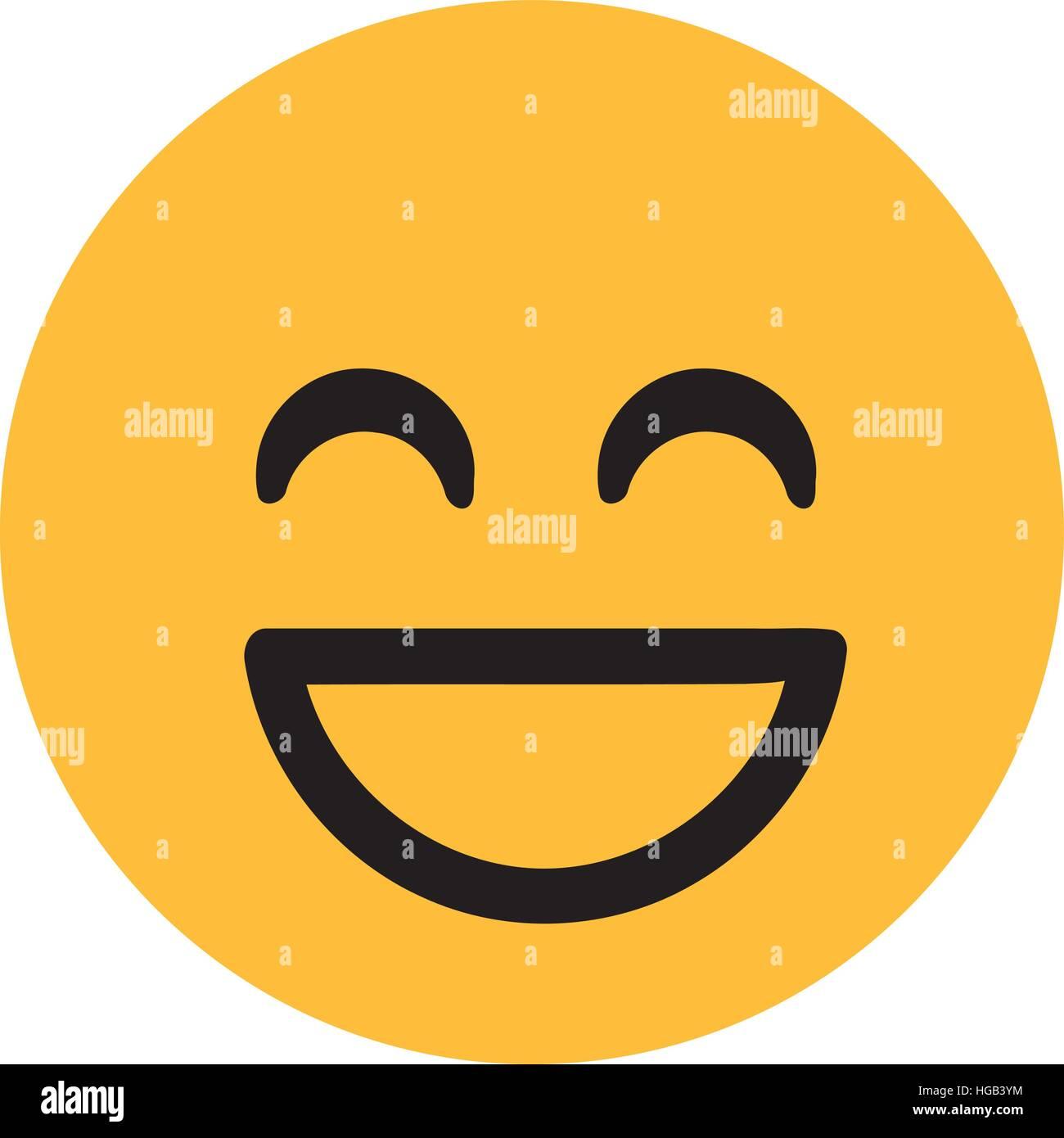 Klassische Lachender Smiley Vektor Abbildung Bild 130551672 Alamy
