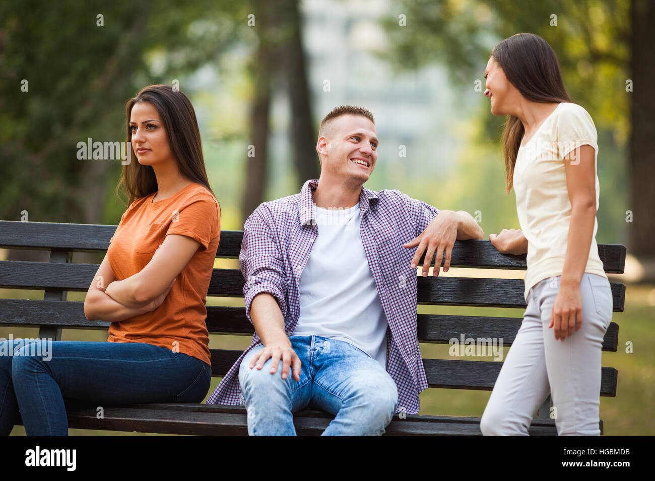 flirten im park