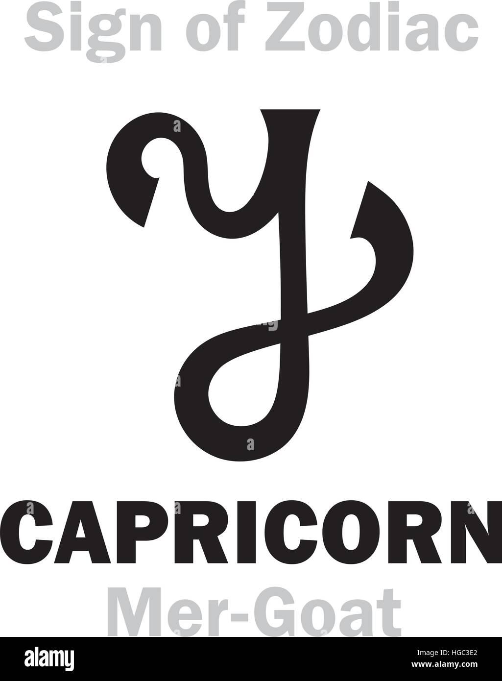Sternzeichen Sternzeichen CAPRICORNUS die Mer Ziege Stock ...