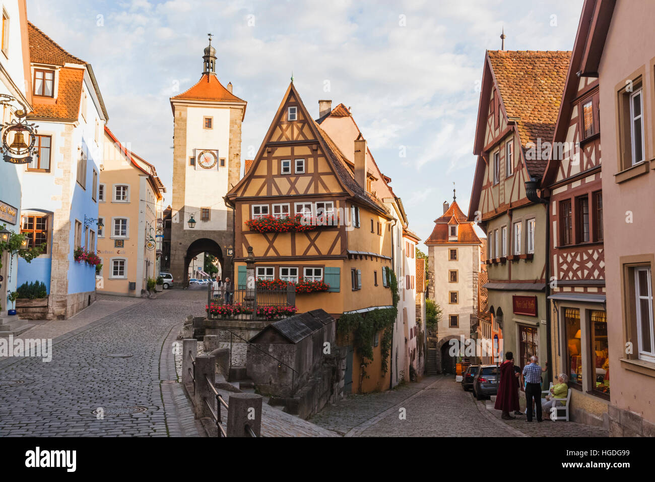 deutschland bayern romantische stra e rothenburg ob der tauber pl nlein und siebers turm. Black Bedroom Furniture Sets. Home Design Ideas