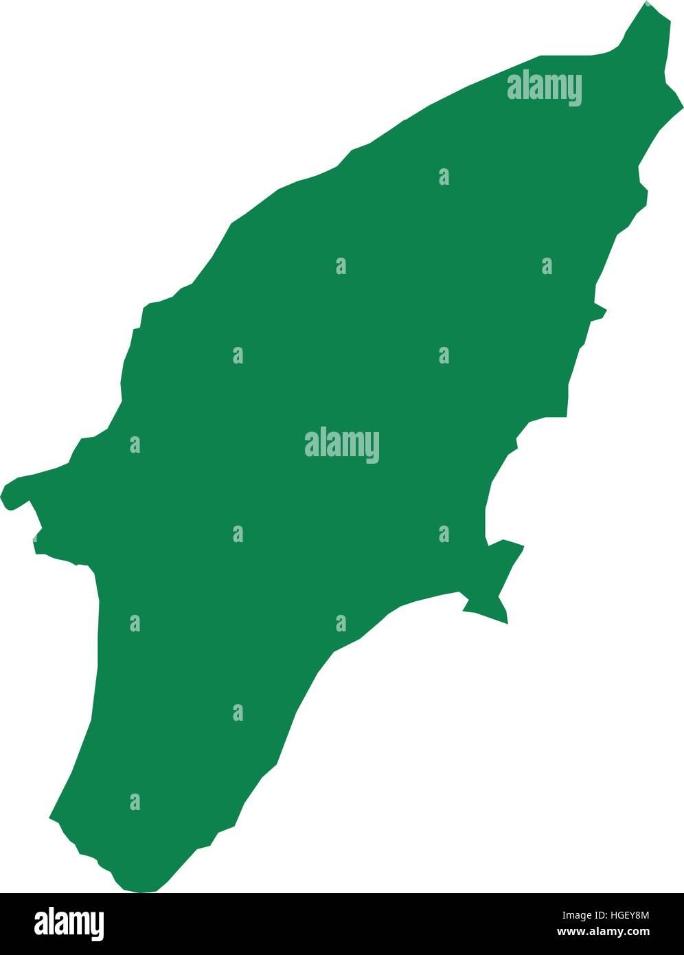 Rhodos Karte.Karte Der Insel Rhodos Vektor Abbildung Bild 130635812 Alamy