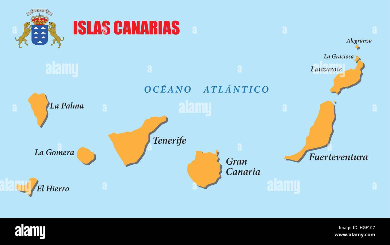 La Palma Map Canary Islands