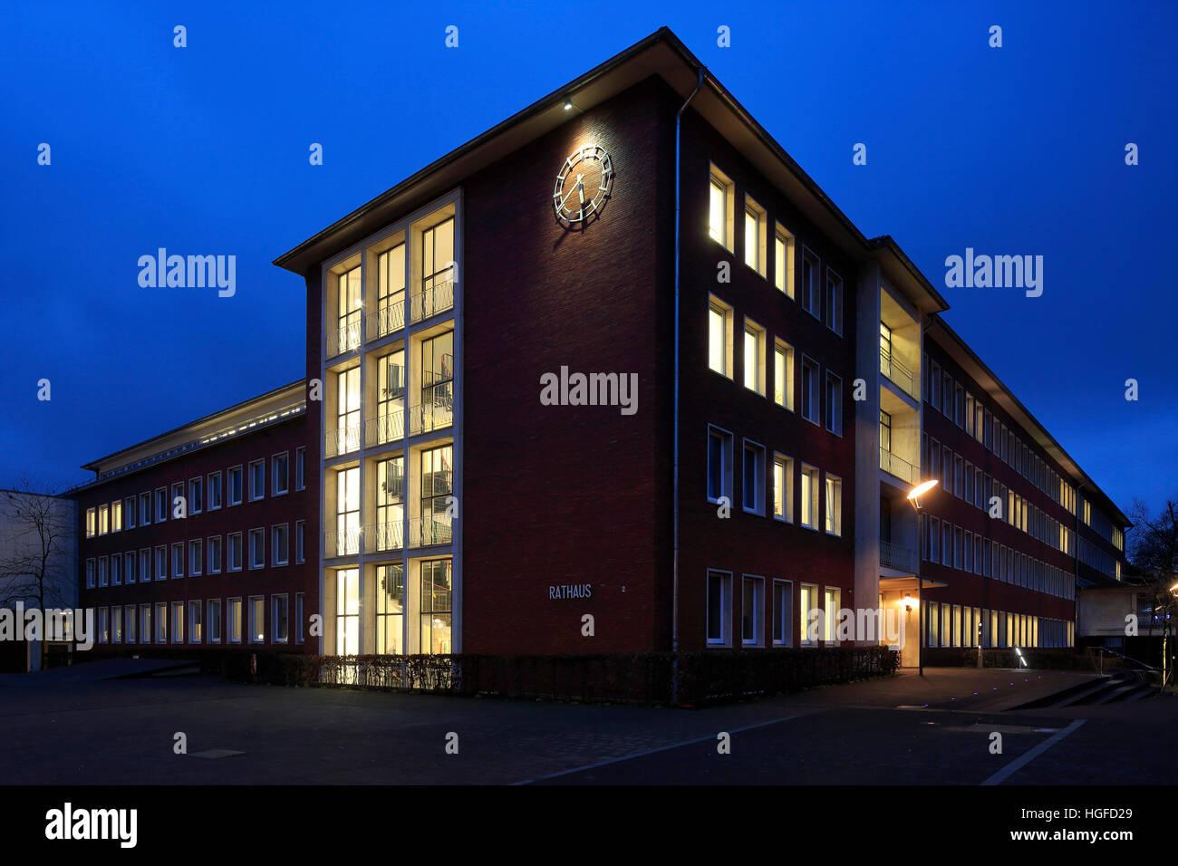 Rathaus in Herten, Ruhrgebiet, Nordrhein-Westfalen Stockfoto
