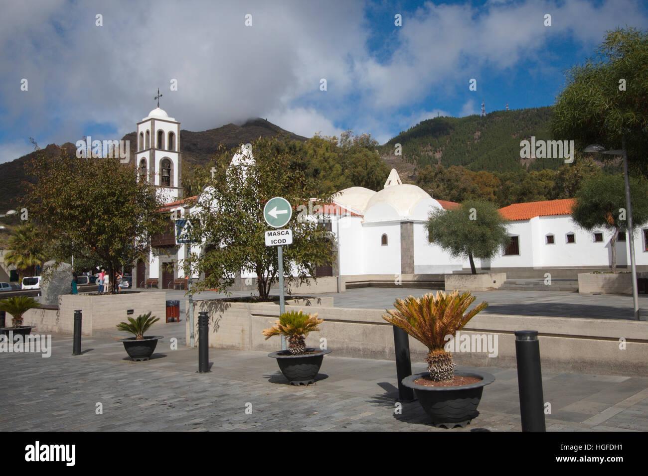 Dorf Santiago del Teide Stockbild