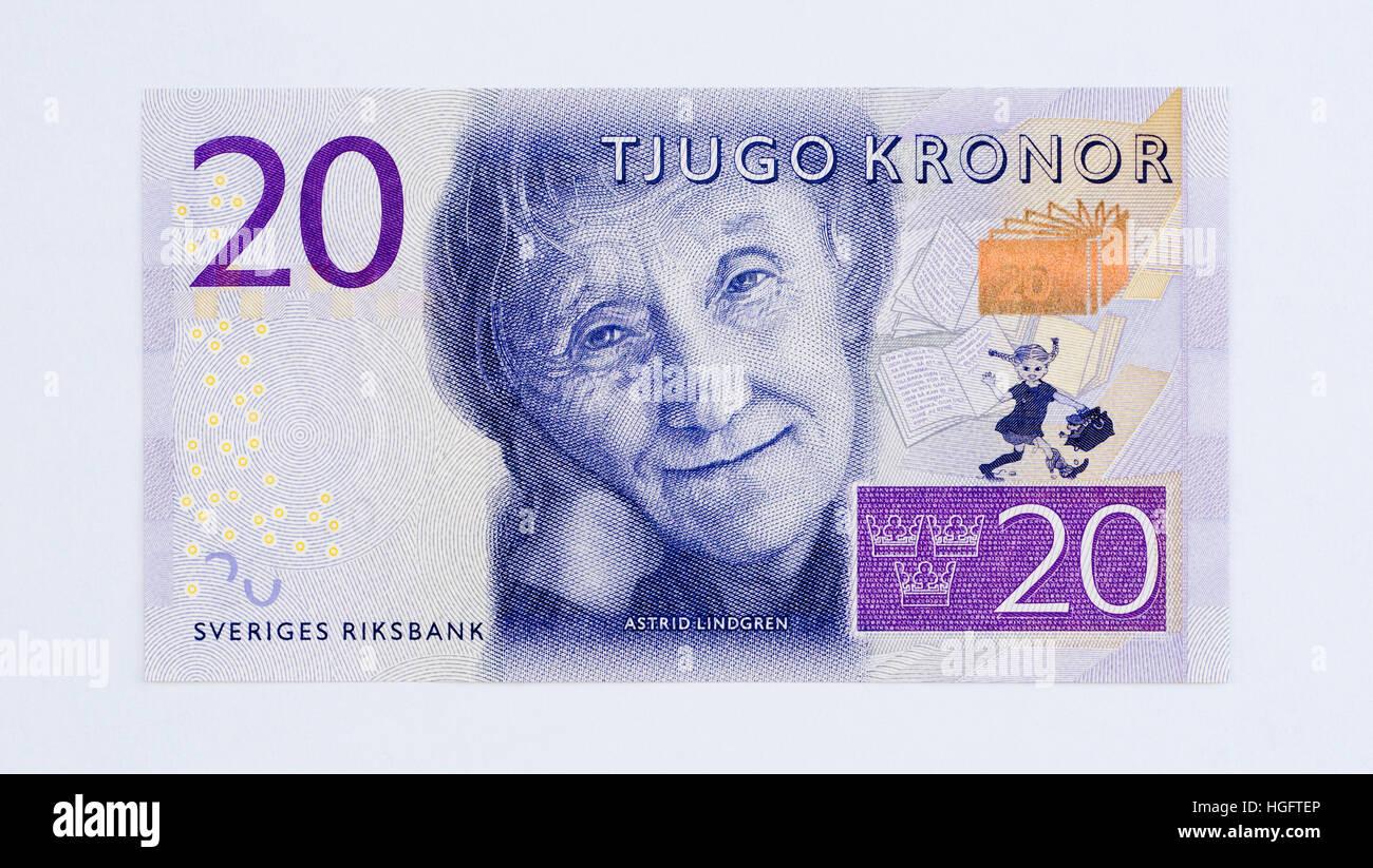 Schweden 20 20 Kronen Banknote Stockfotografie   Alamy