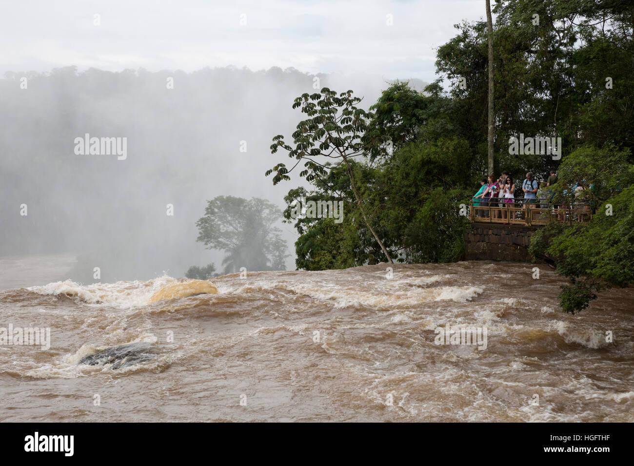Iguazu Wasserfälle, Iguazu National Park, Provinz Misiones, Nordosten, Argentinien, Südamerika Stockbild