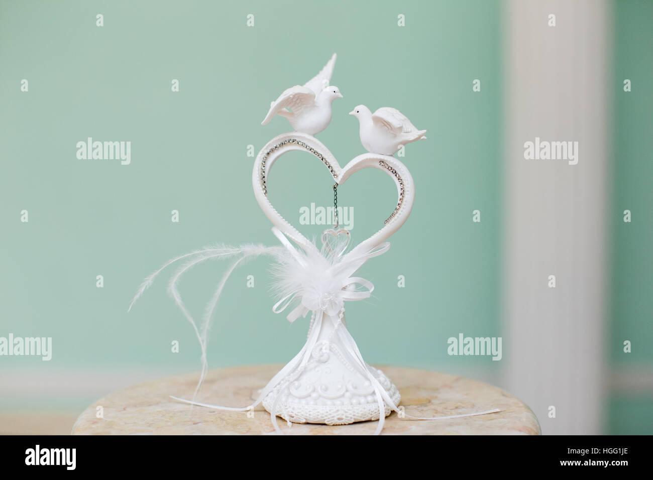 Hochzeit Dekoration Herz Mit Zwei Weissen Tauben Hochzeit Dekoration