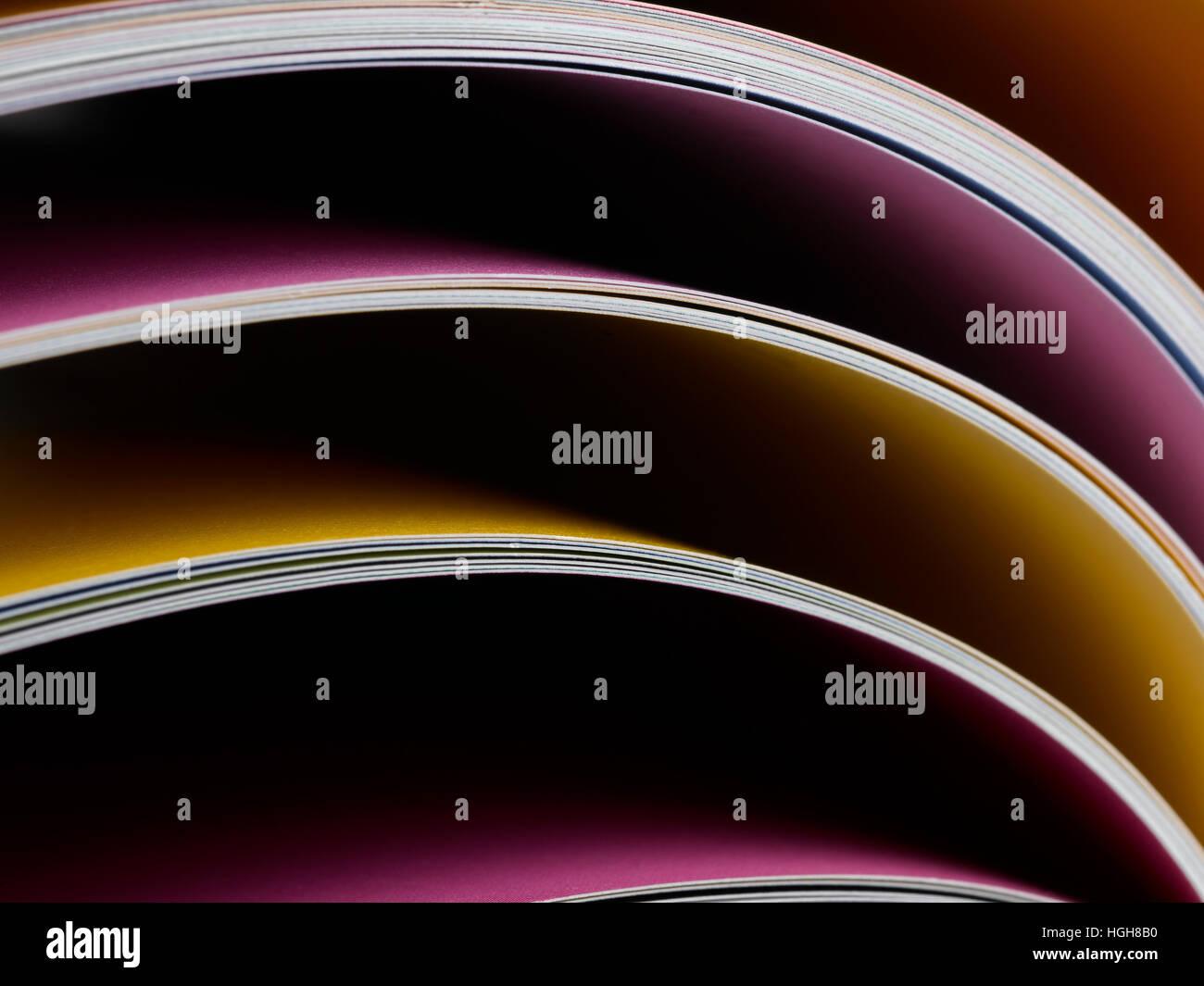 Magazin-Seiten füllen der Rahmen Stockfoto, Bild: 130686836 - Alamy