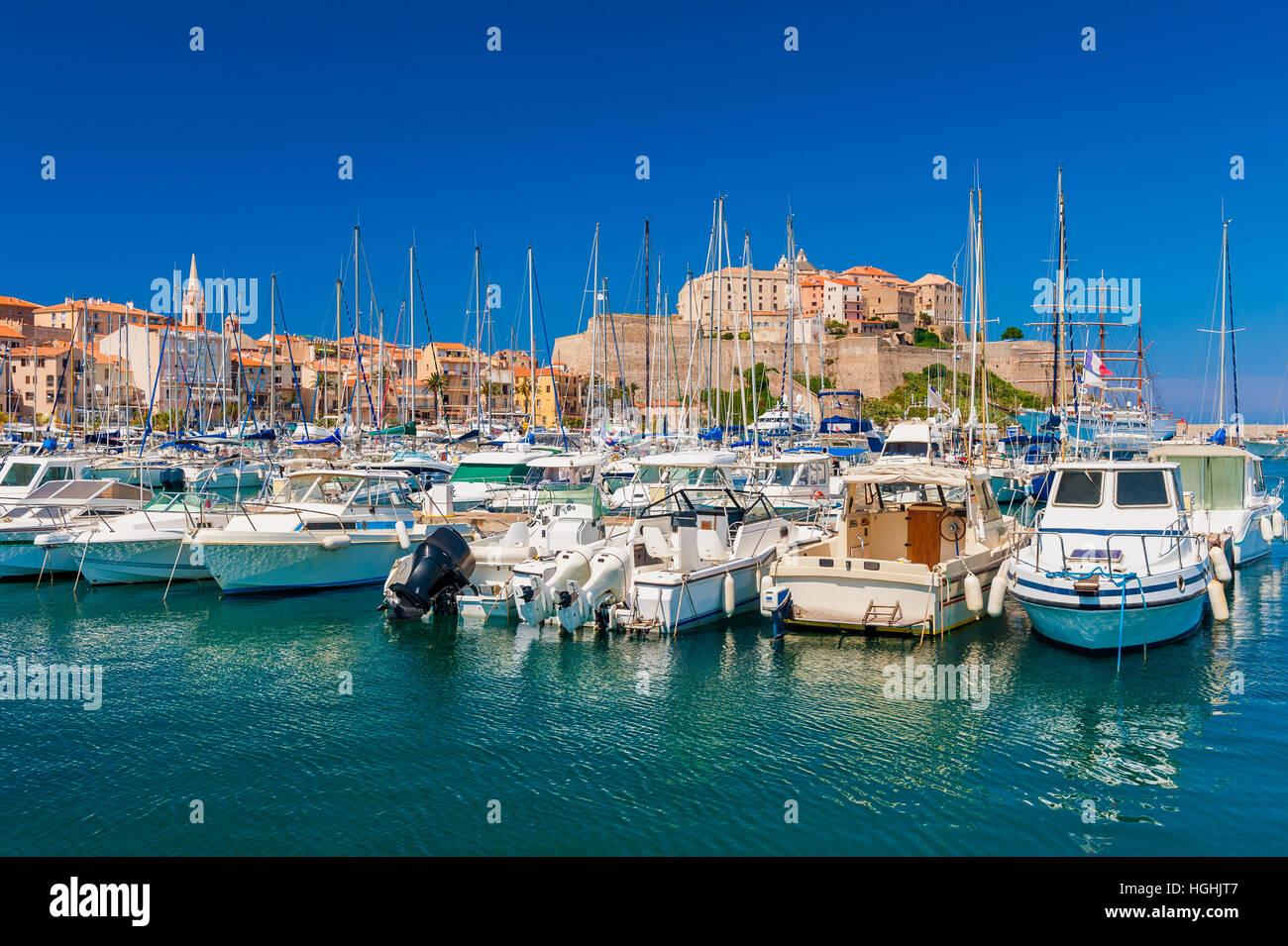 Yachthafen von Calvi Korsika Stockbild