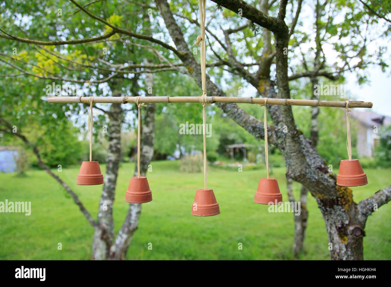 Hangend In Einem Baum Mit Terrakotta Blumentopf Europa Frankreich Realisiert Mobile Stockfotografie Alamy