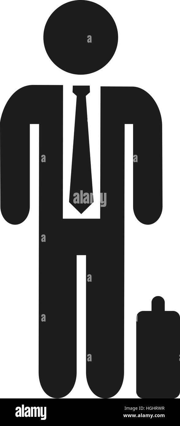 Geschäftsmann Piktogramm Stockbild