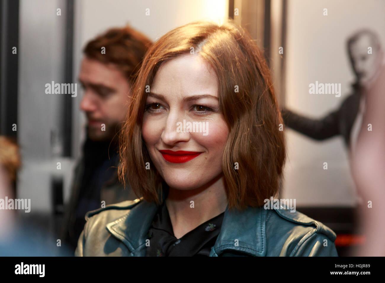 Edinburgh, UK. 22. Januar 2017. T2 Trainspotting Premiere beim Edinburgh Cineworld. Schottland. Abgebildete Kelly Stockbild