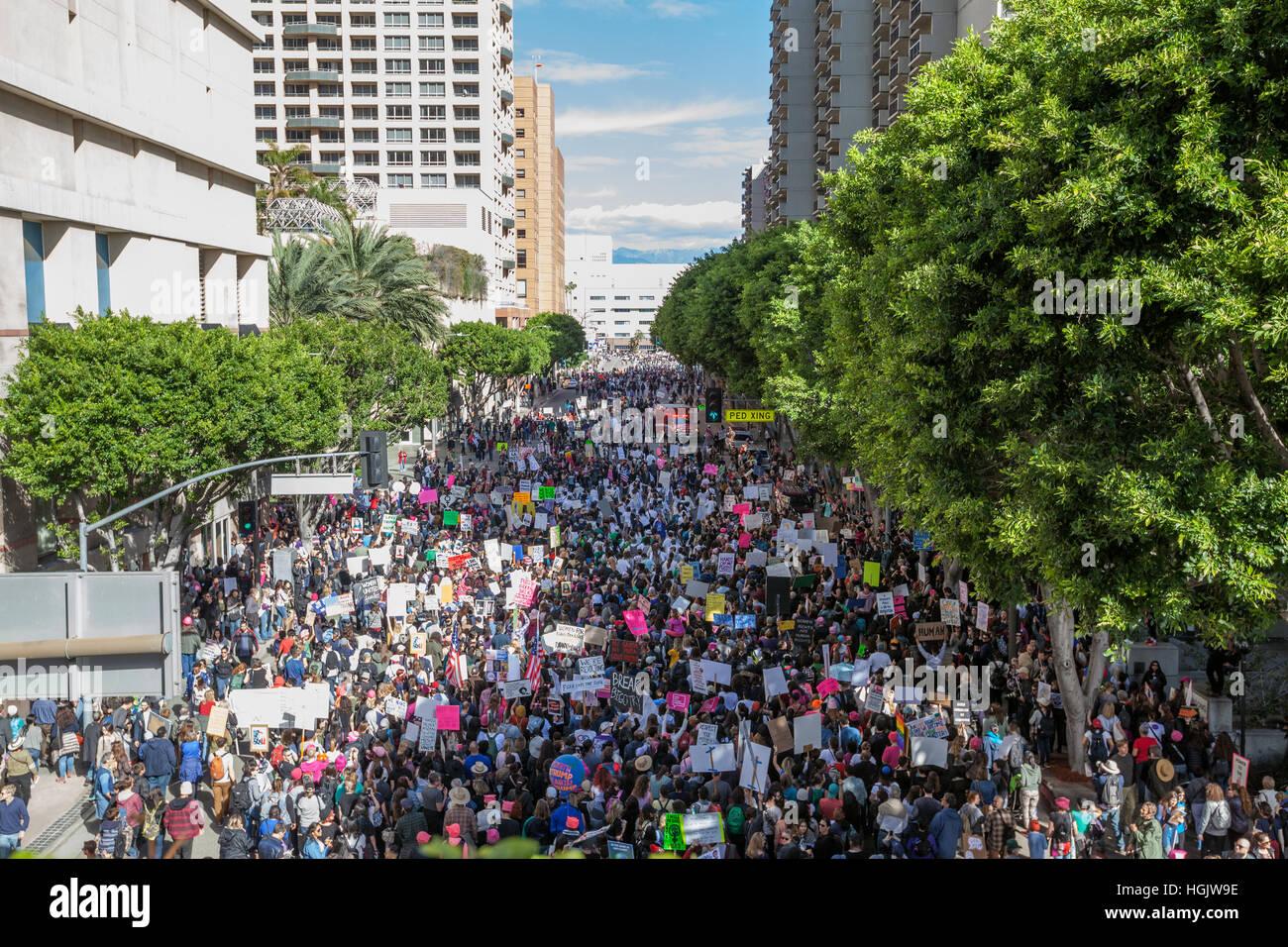 Los Angeles Frauen März 2017 Stockbild