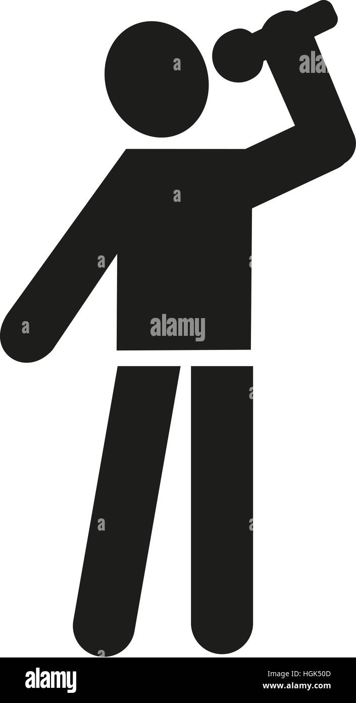 Sänger-Piktogramm Stockbild