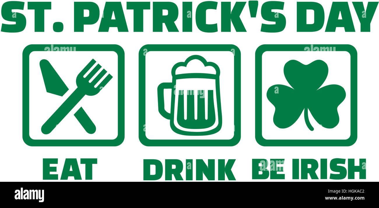 St. Patricks Day - Essen trinken und sein irischer Stockbild