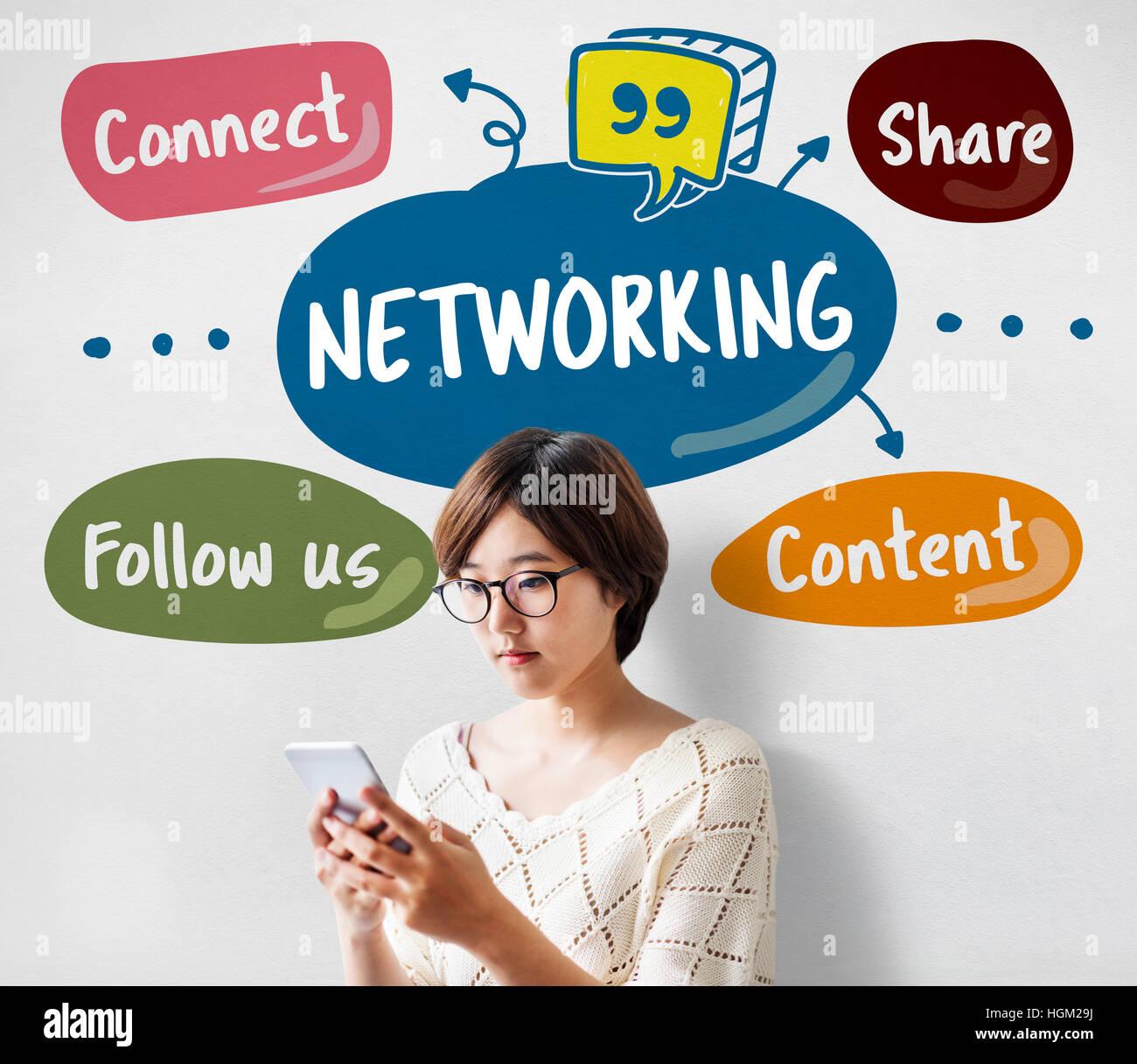 Internet-Community-Social-Media-Konzept Stockbild