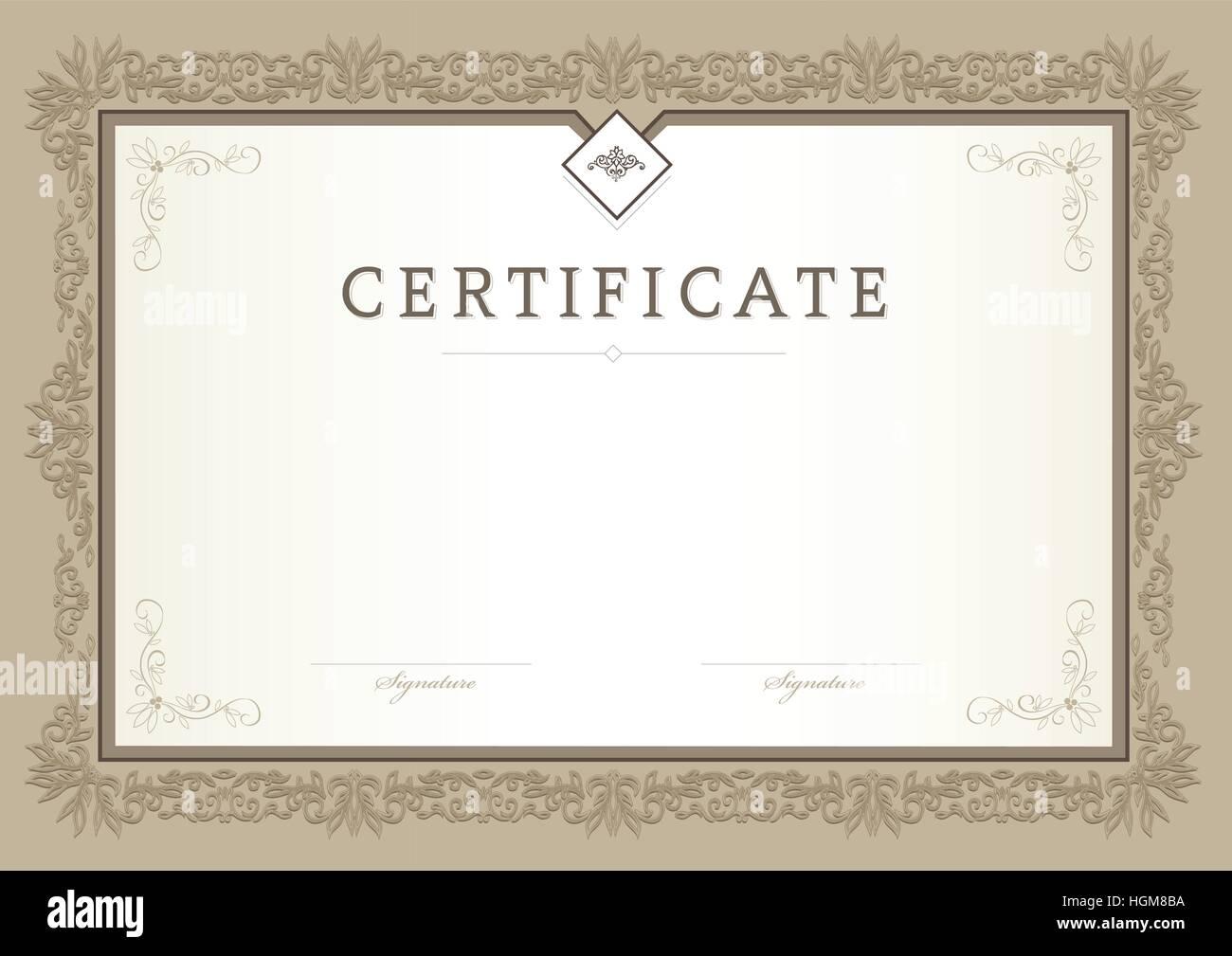 Zertifikat, Abschlusszeugnis, Vektor-Design-Vorlage Vektor Abbildung ...