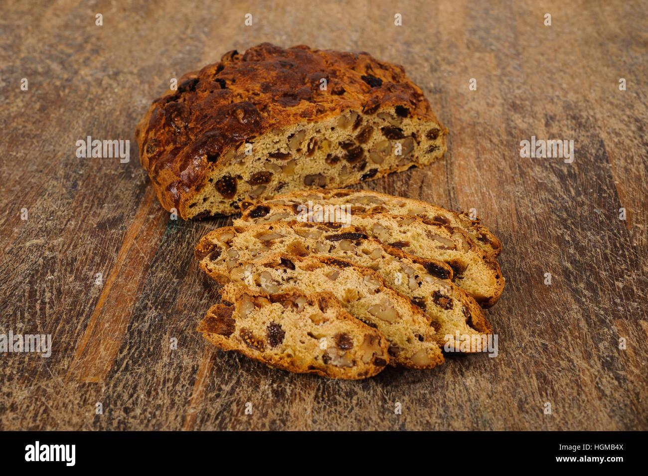 Bisciola, typische Kuchen Valtellina, Lombardei, Italien Stockbild