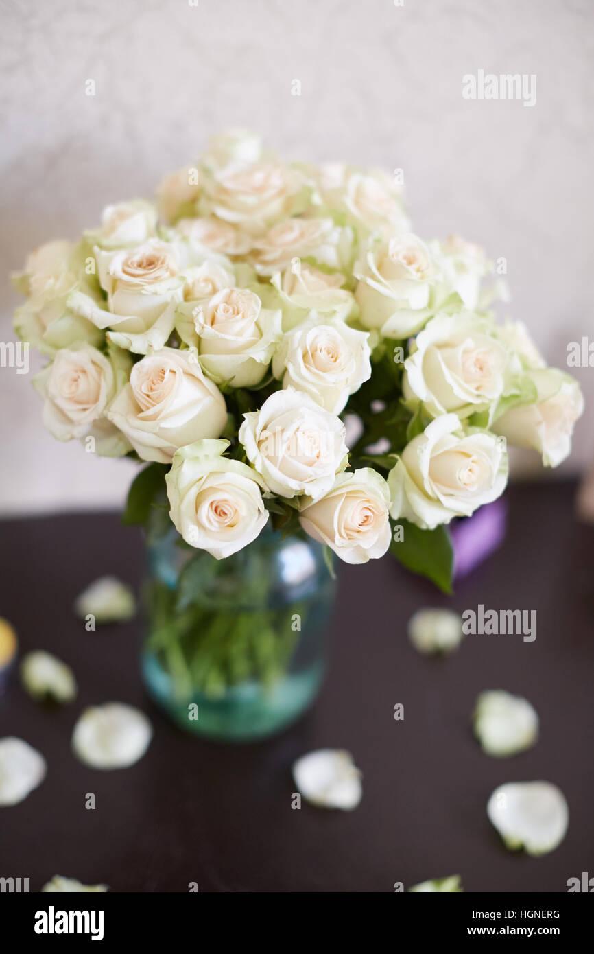 Hochzeit Dekor Blumenstrauss Hochzeit Deko Idee Stockfoto Bild