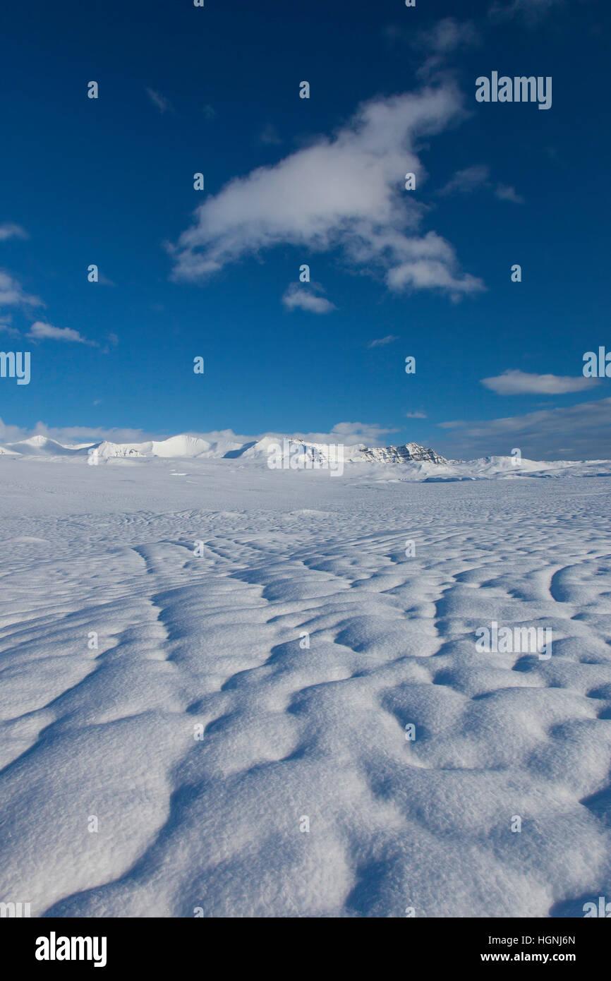 Vatnajökull / Vatna Gletscher, größte Eis-Kappe in Island und eines der größten Gletscher Stockbild