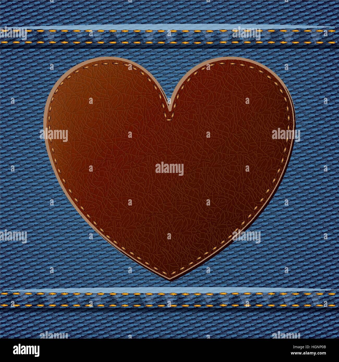 Denim Frame Heart Icon Jeans Stockfotos & Denim Frame Heart Icon ...