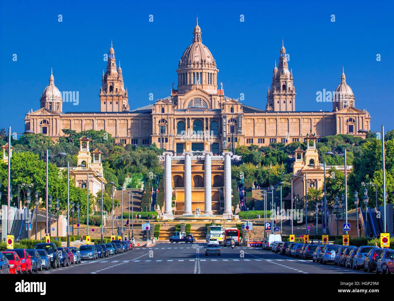 Catalunya Nationalmuseum für Kunst (MNAC), Barcelona Stockbild