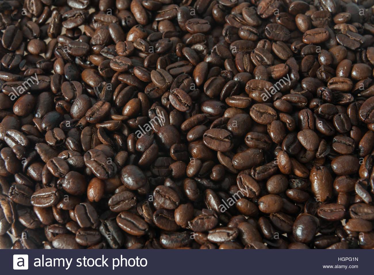 Frame Füllung Kaffeebohnen. Stockbild