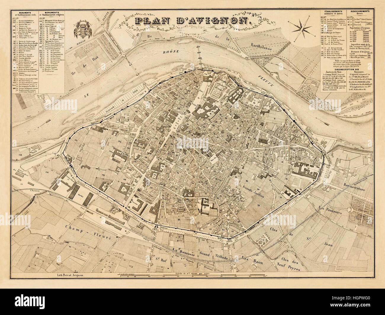 Karte Von Avignon Stockfotos Karte Von Avignon Bilder Alamy
