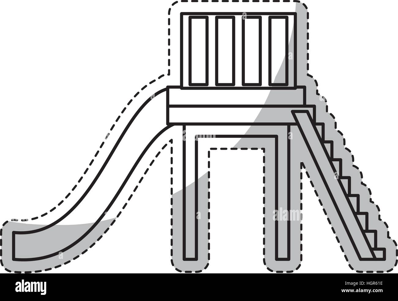 Slider Stairs Game Icon Over Stockfotos Slider Stairs Game Icon