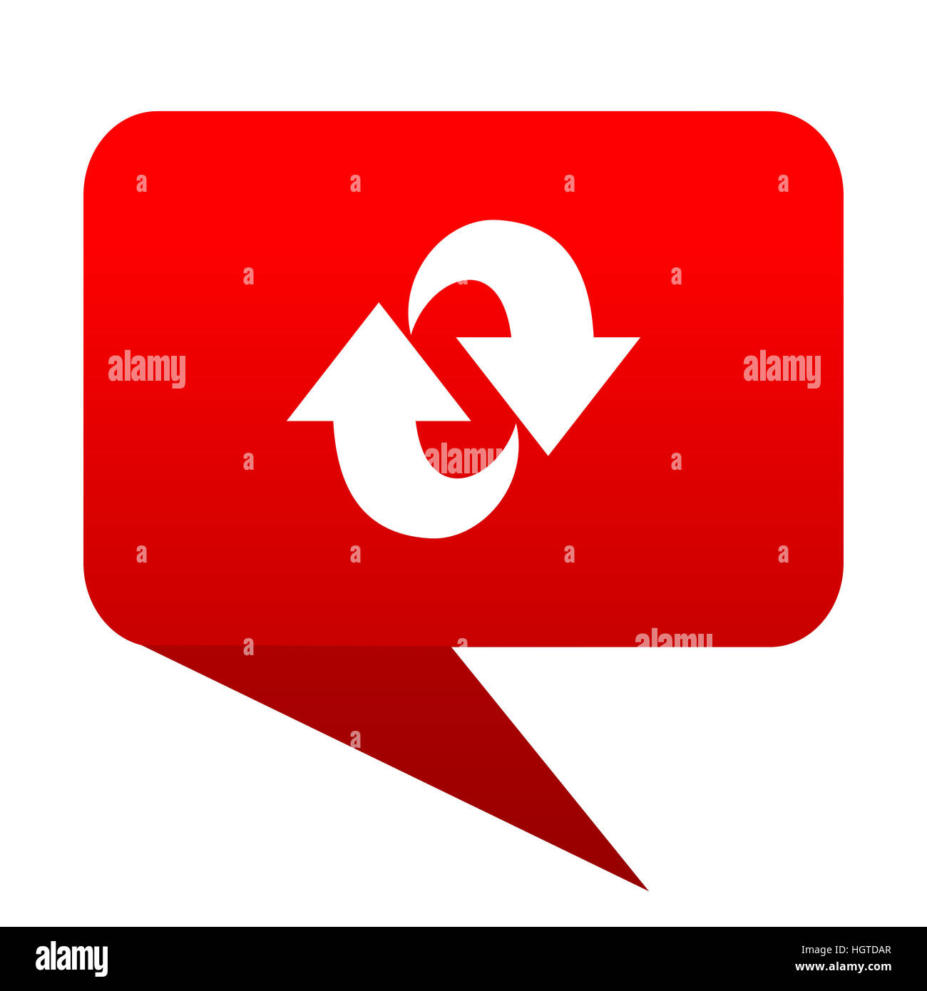 Drehsymbol Blase rot Stockbild