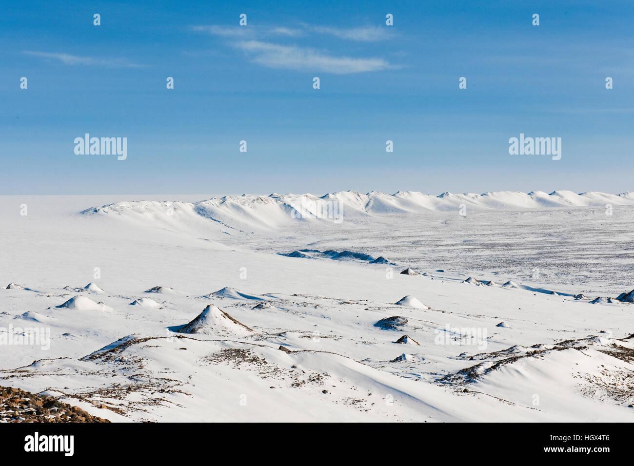 Rand der Grönland Eiskappe bei Thule Grönland Stockbild