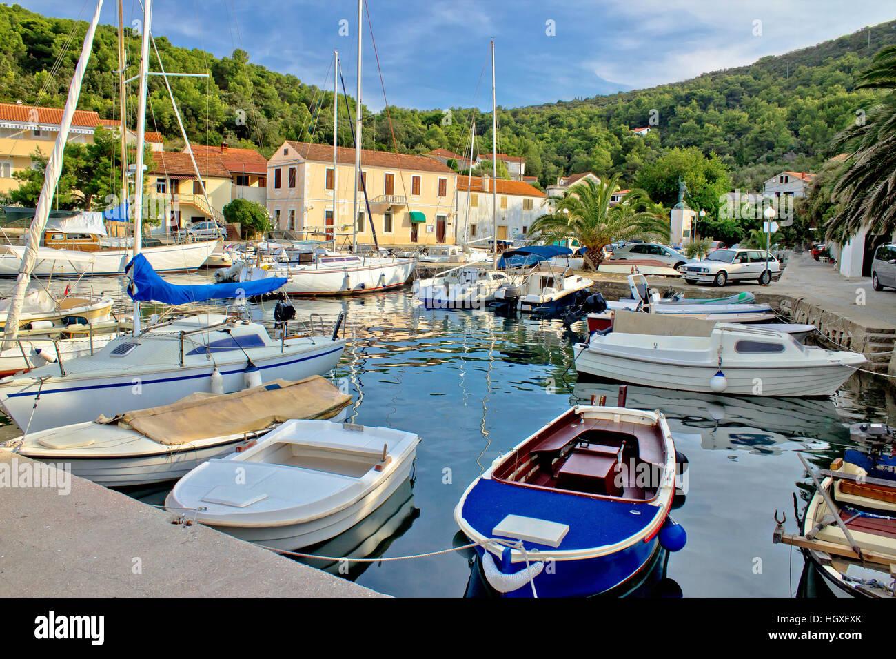 Mali Iz Adria sicherer Hafen, Dalmatien, Kroatien Stockbild