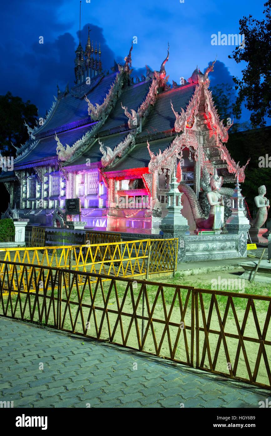 Wat Sri Suphan (Silber-Tempel), Chiang Mai, Thailand Stockbild