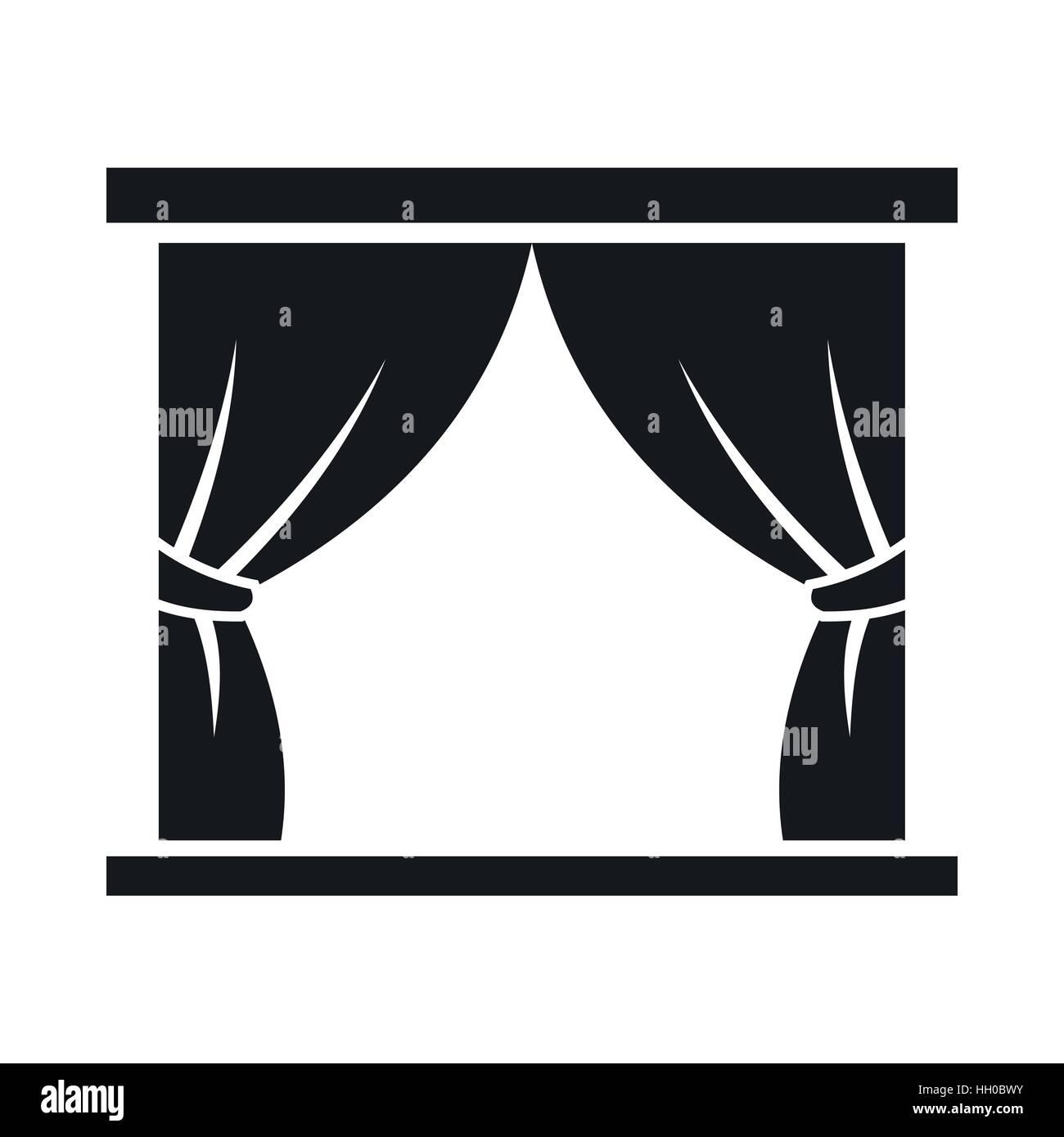 vorhang auf b hne symbol einfachen stil vektor abbildung bild 130931079 alamy. Black Bedroom Furniture Sets. Home Design Ideas