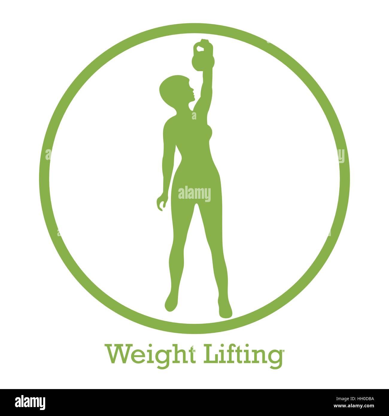 Stilisierte Symbol für Fitness Sport athletische Frau hält ...