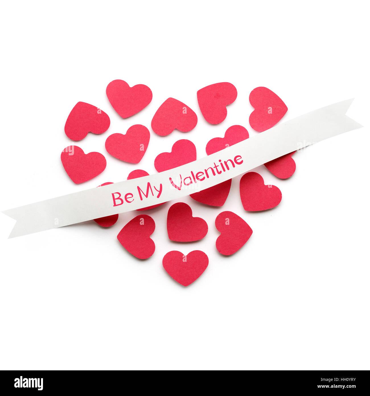 Hervorragend Kreative Valentines Konzept Foto Herz aus Papier mit einem Band SB52