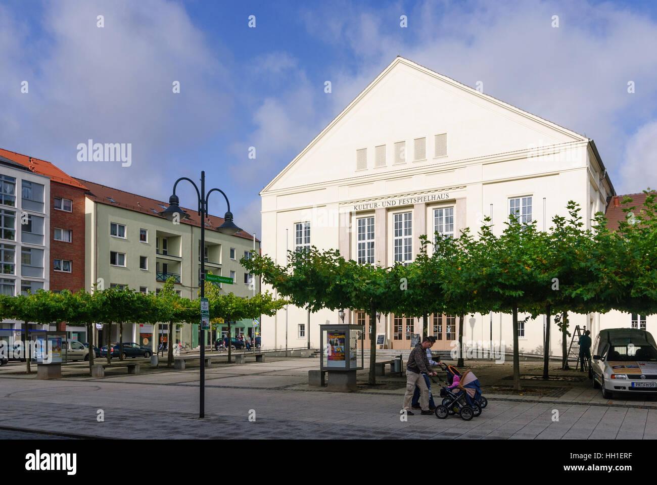Wittenberge: Kultur-Und Festspielhaus (Kultur und Festival-Leistung-Haus), Brandenburg, Deutschland Stockbild