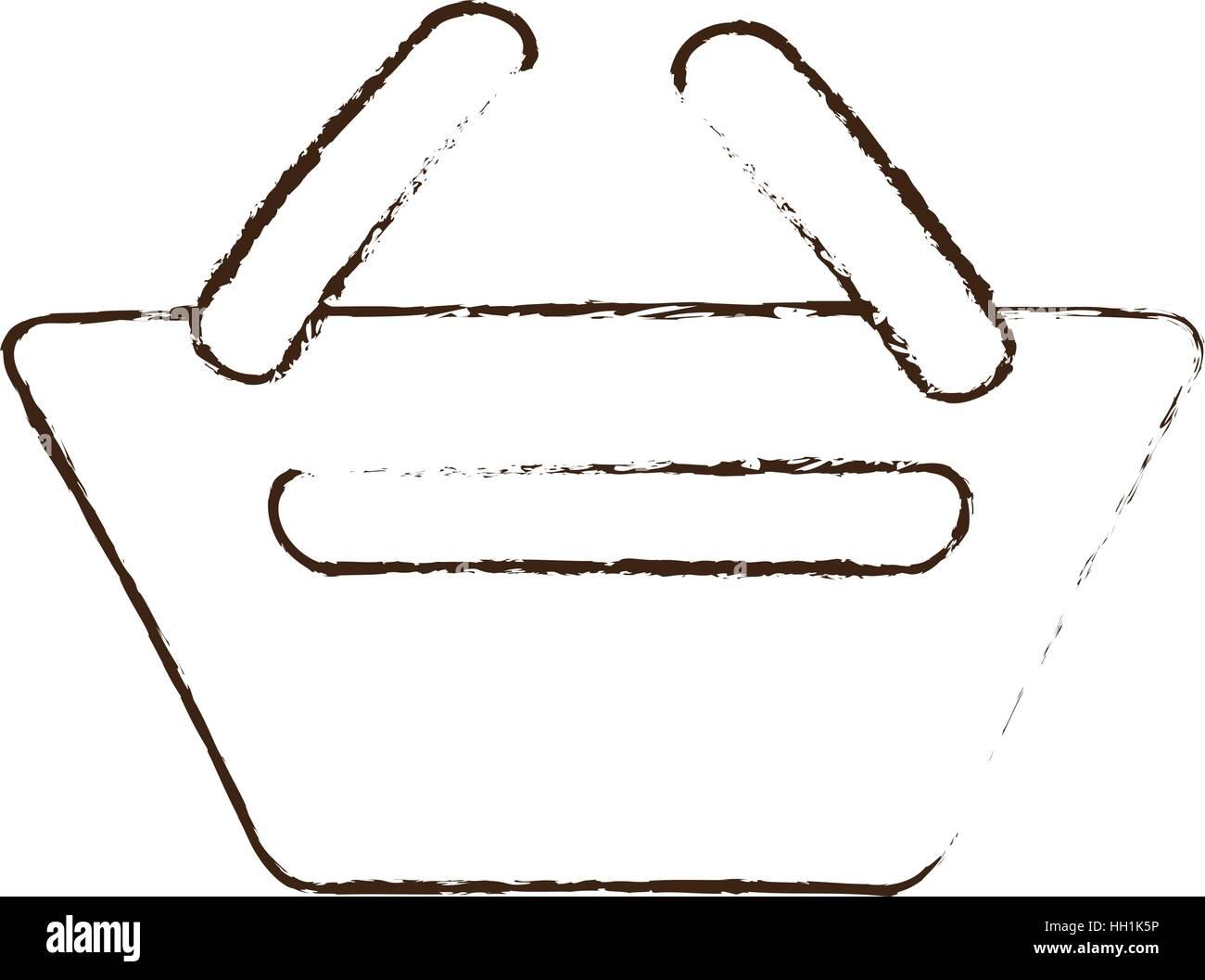 Skizze zu zeichnen Korb Einkaufen online-e-commerce Vektor Abbildung ...