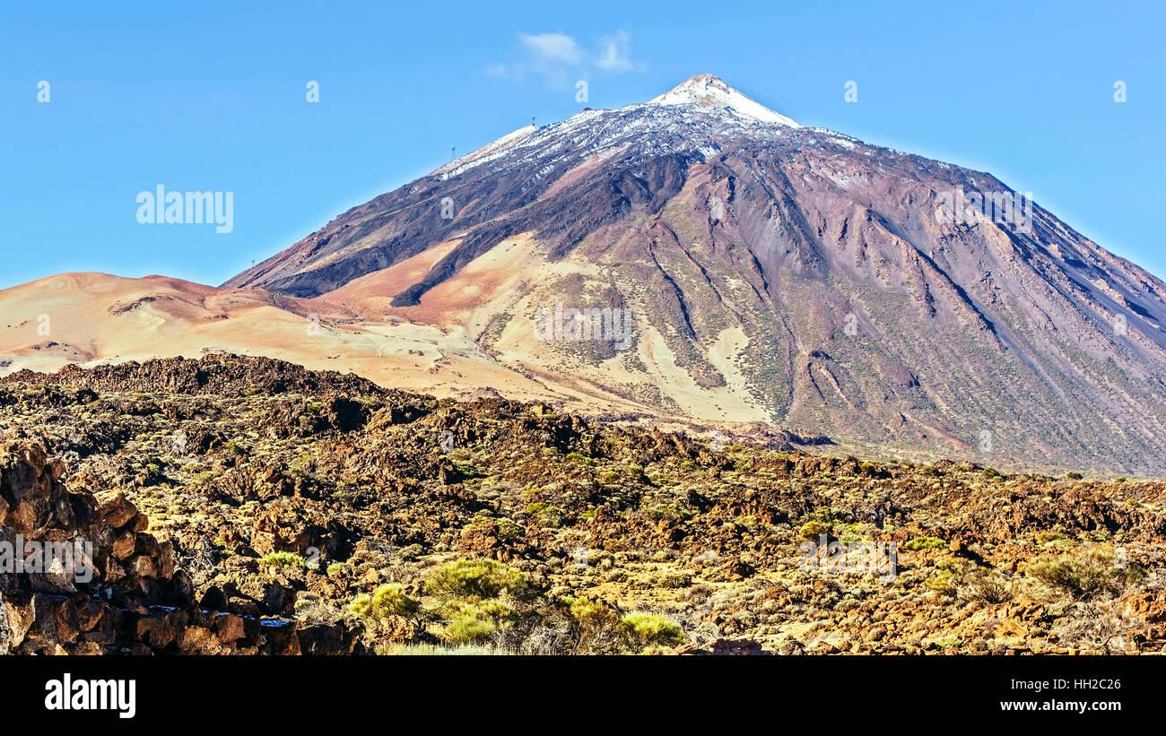 Gipfel des Mount Teide Teneriffa Kanarische Inseln Stockbild