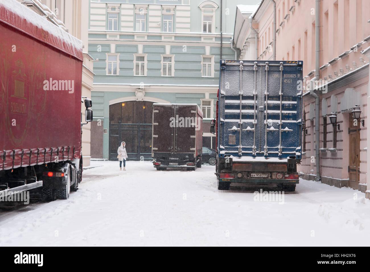 Moskau Russland Sonntag 15 Januar 2017 Neue Lieder Und