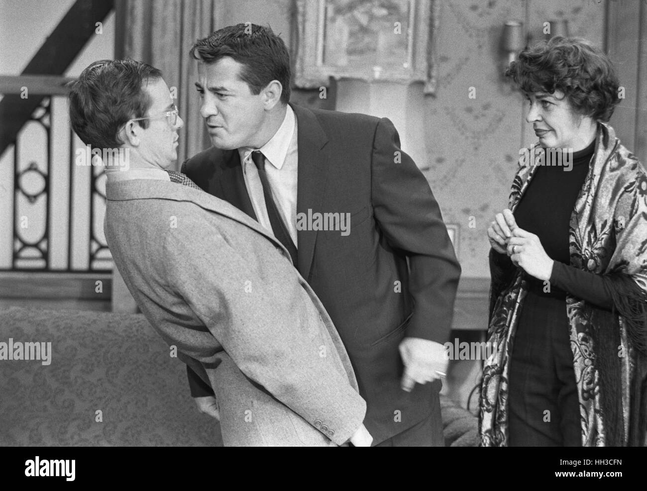 Rocky Graziano, Wally Cox und Martha Raye Stockbild
