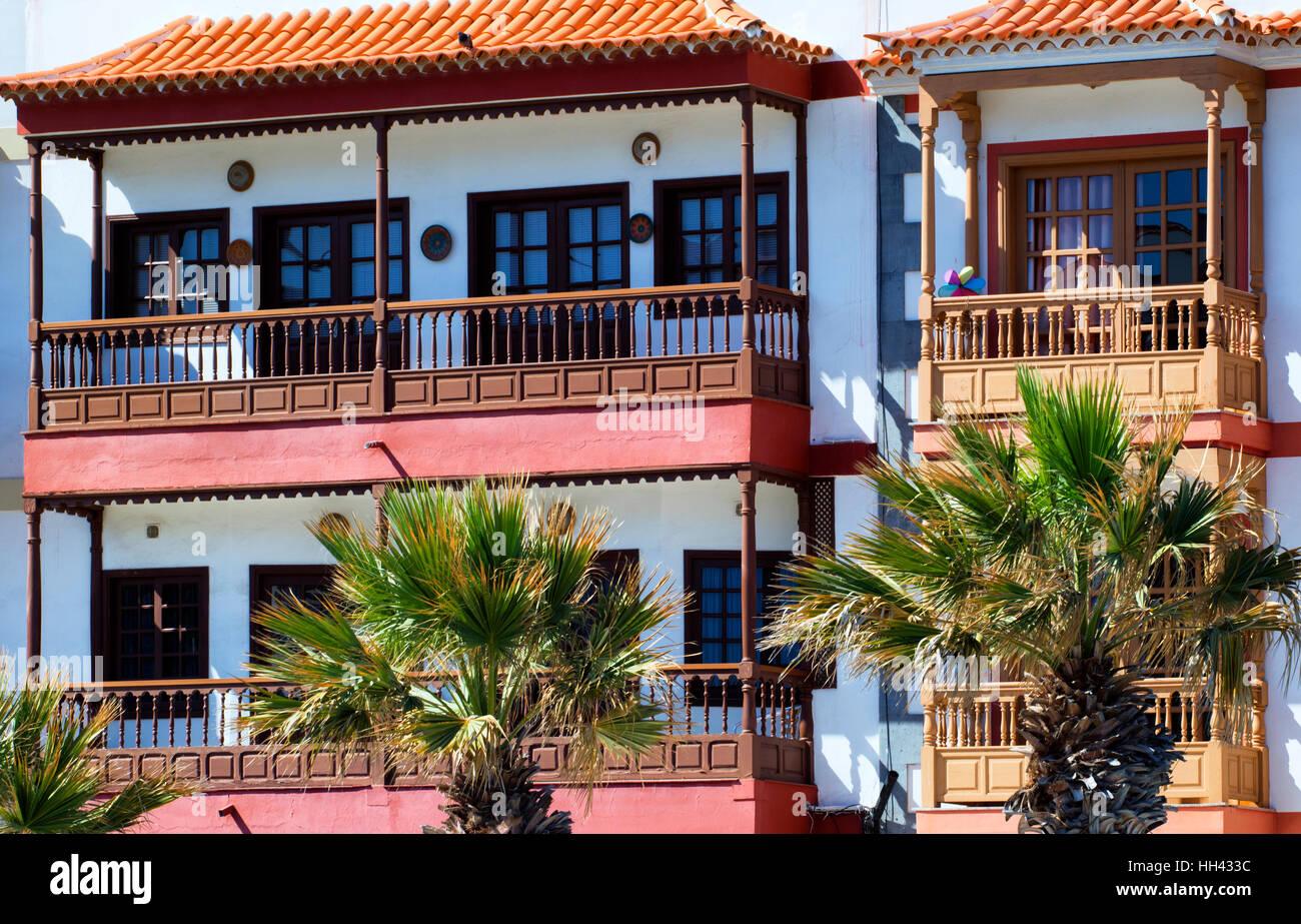 Häuser in Candelaria, Teneriffa Stockbild