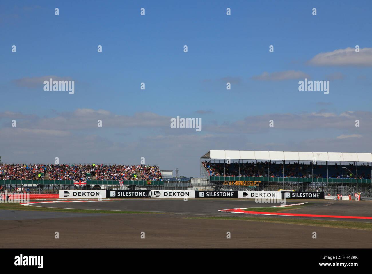 Silverstone Rennstrecke, Northants, Großbritannien Stockbild