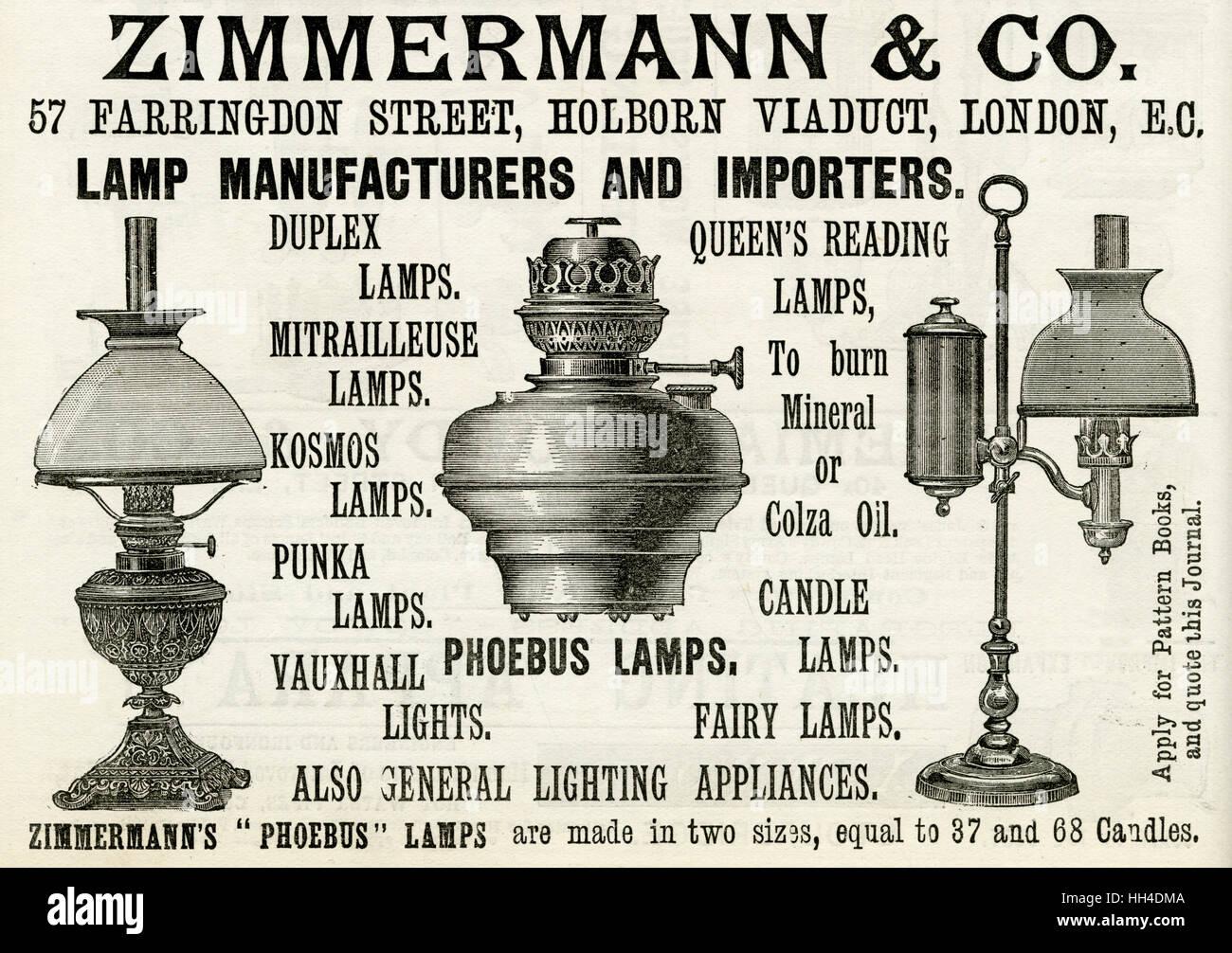 Zimmermann Co Lampe Hersteller Und Importeure Stockfoto Bild