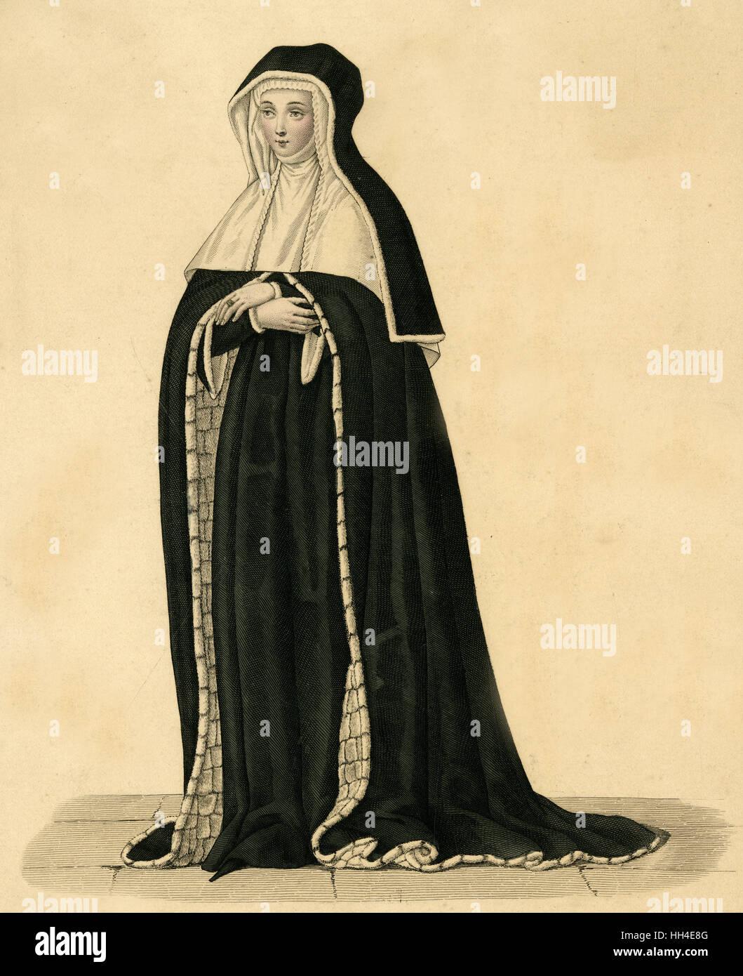 MICHELLE DE VITRY Baronesse de Frainel Stockbild