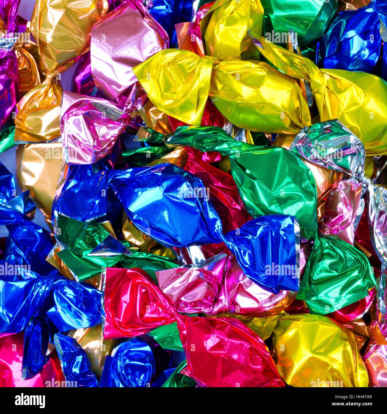 Hintergrund mit bunten bonbons Stockbild